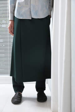 green skirt pants