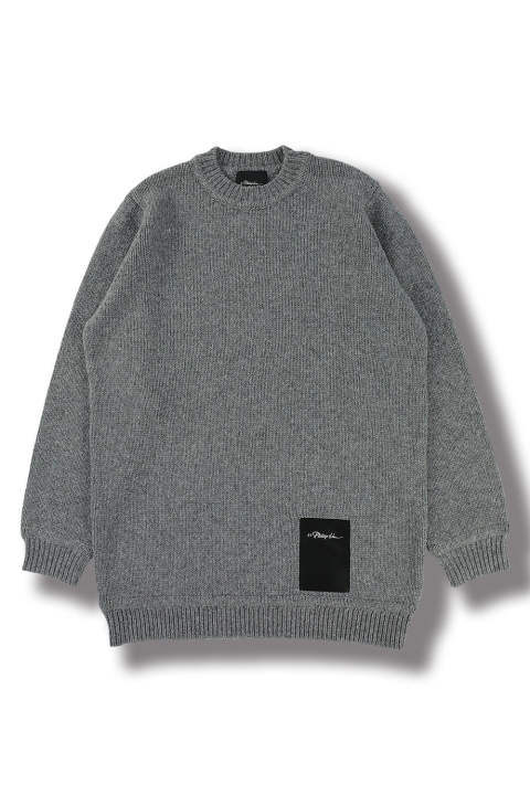 LS CHUNKY WOOL SWEATER(GREY)