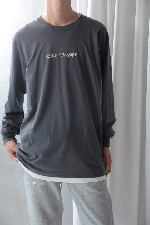 ENDS LONG SLEEVE T-SHIRT(GREY)
