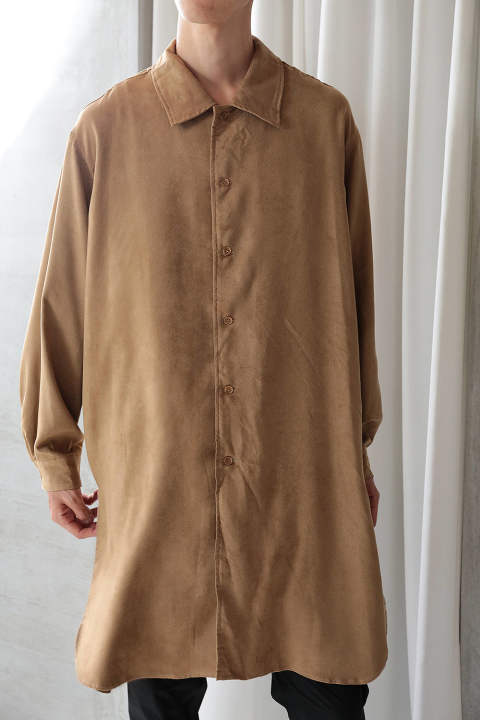 【ラスト1点】E/SUEDE LONG SHIRT(BEIGE)