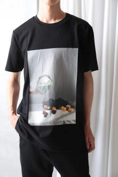 SS PERFECT TEE W CABBAGE PRINT(BLACK)