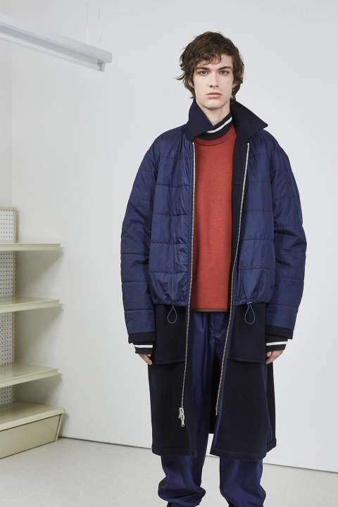 【ラスト1点】OVERSIZED REVERSIBLE WASHED WOOL COAT(NAVY)