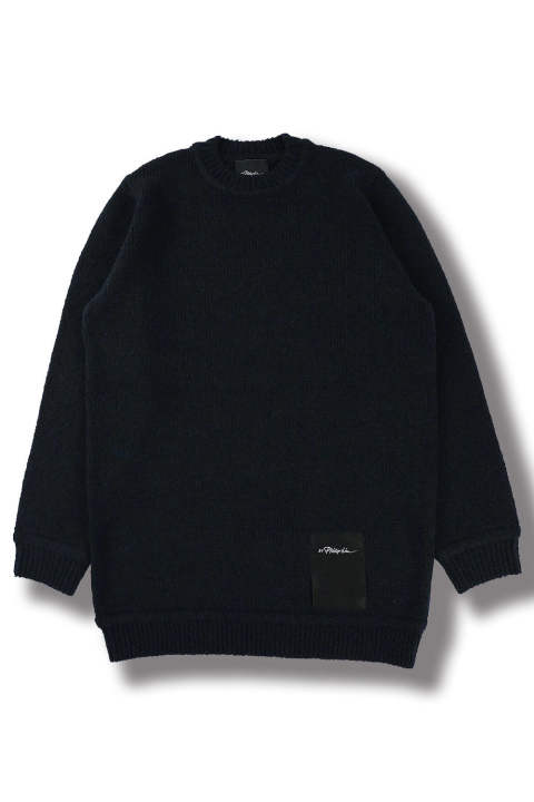 LS CHUNKY WOOL SWEATER(NAVY)