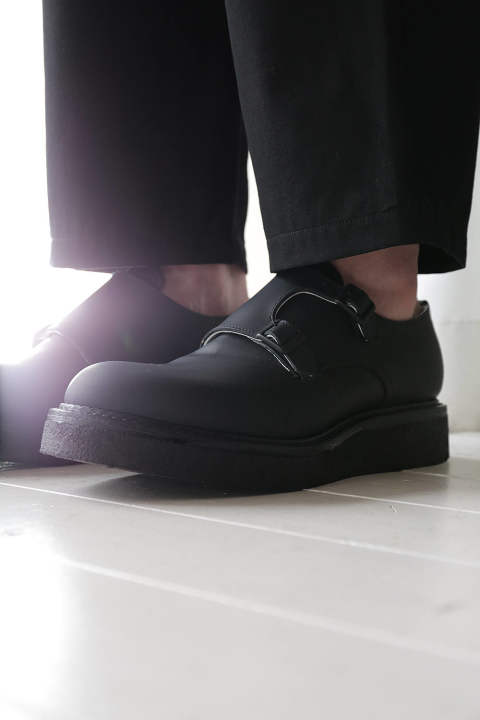 DOUBLE MONK SHOES(BLACK LEATHER)