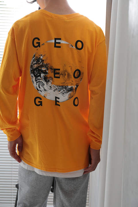 GEO 3  LONG SLEEVE T-SHIRT(YELLOW)