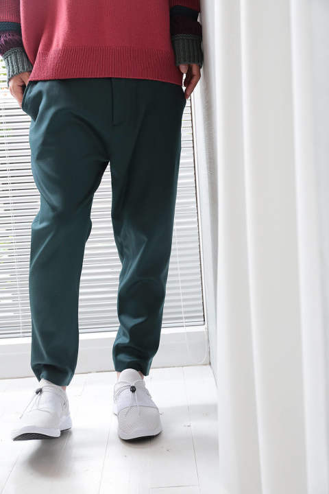 CROPPED PANTS(DARK GREEN)