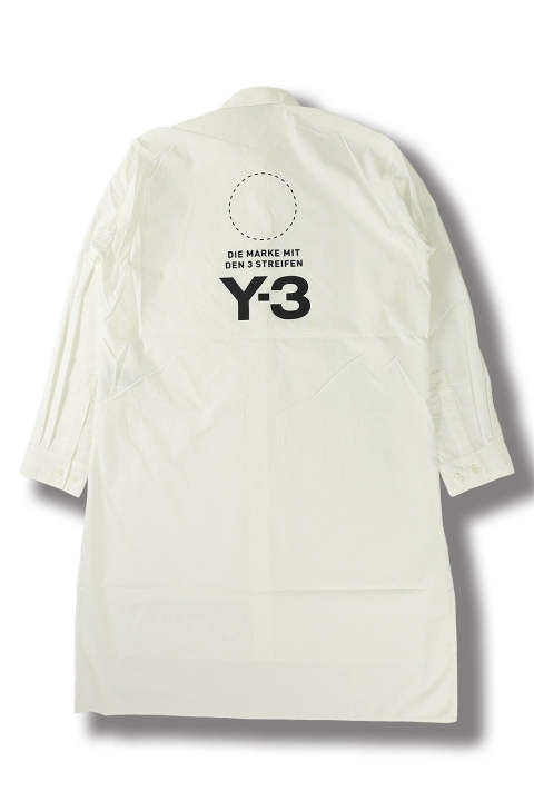 U STACKED LOGO LONG SHIRT(CORE WHITE/BLACK)