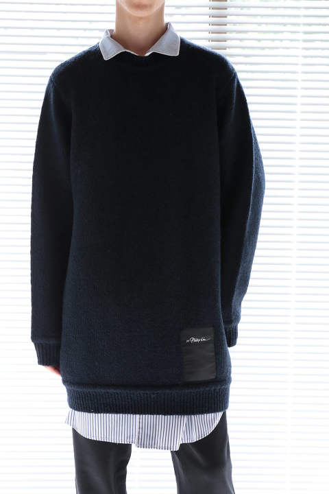 【ラスト1点】LS CHUNKY WOOL SWEATER(NAVY)