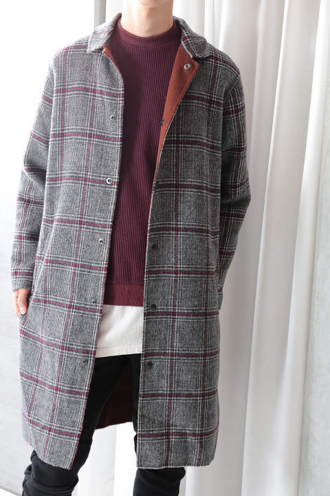 【ラスト1点】M TOPCOAT(BROWN HERRINGBONE)