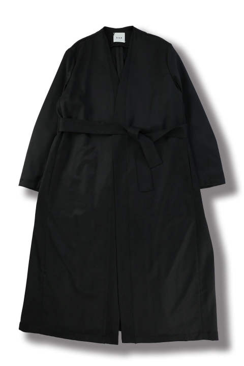 LONG GOWN COAT(BLACK)