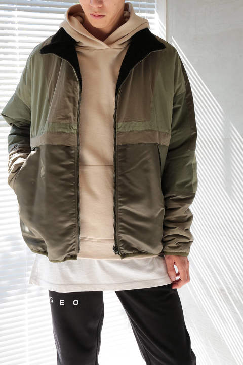 REVERSIBLE SAIL JACKET(OLIVE)