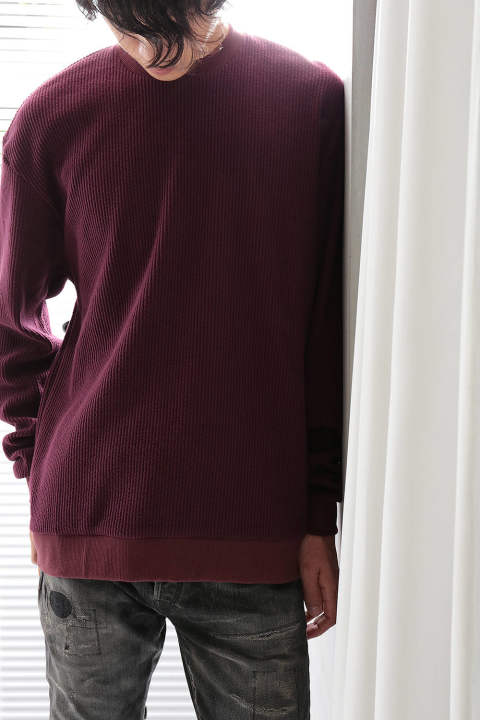 【ラスト1点】CORDUROY MOCK NECK(BURGUNDY)