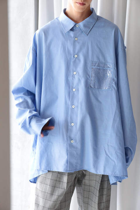 【ラスト1点】GARMENT BAG SHIRT(BLUE)