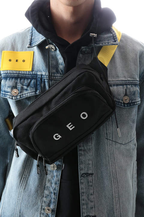 GEO BELT BAG(BLACK)