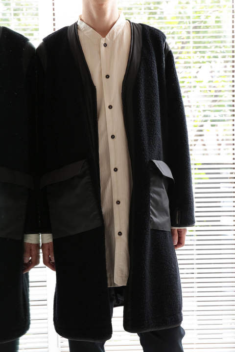 【ラスト1点】REVERSIBLE BOA COAT(BLACK)