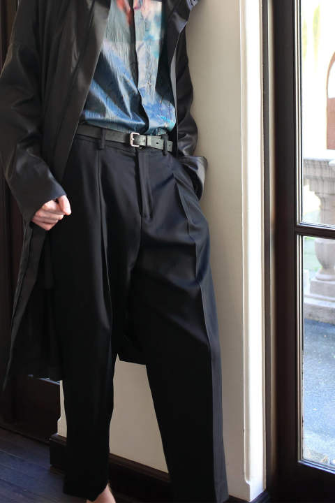 【ラスト1点】TUCK WIDE PANTS(BLACK)