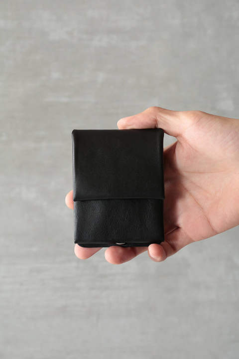 "MINI WALLET""HUGHES""(BLACK)"