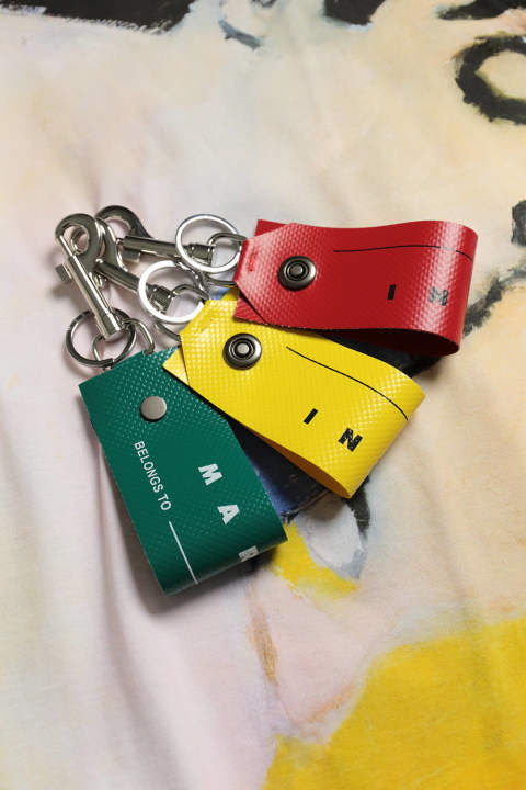 KEYRING(SUN/SPHERICAL GREEN/RED)