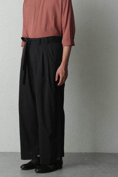 【ラスト1点】black wide pants