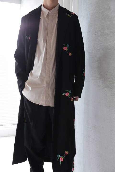 【ラスト1点】OVER LONG EMB. COAT(BLACK)