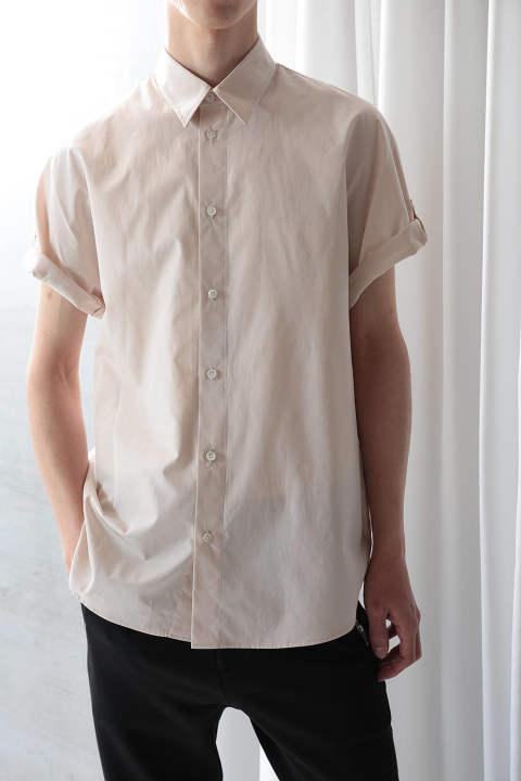 SS DOLMAN BUTTONDOWN(LATTE)
