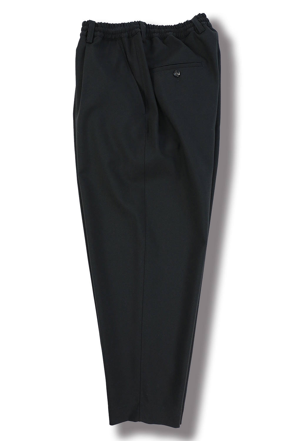 TROPICAL WOOL CROPPRED PANTS(BLACK)