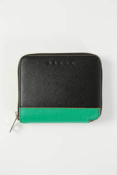 SHORT ZIP WALLET(BLACK/SEA GREEN/RUBY)