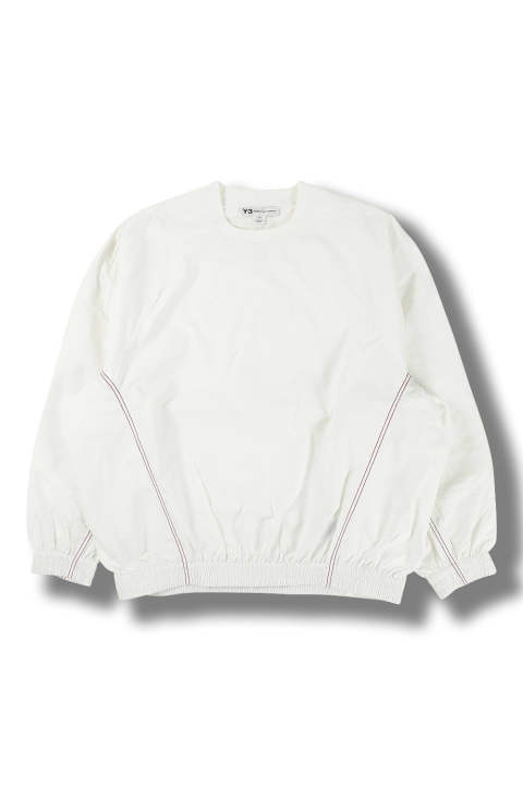 M WOVEN LUX TRACK SWEATER(CORE WHITE)