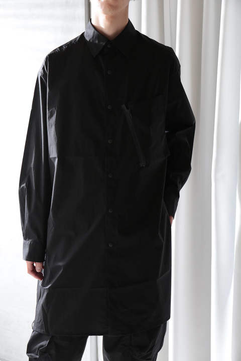 M TECH COTTON LONG SHIRT(BLACK)