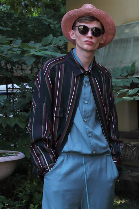 BALLOON SHIRT BLOUSON(STRIPE)
