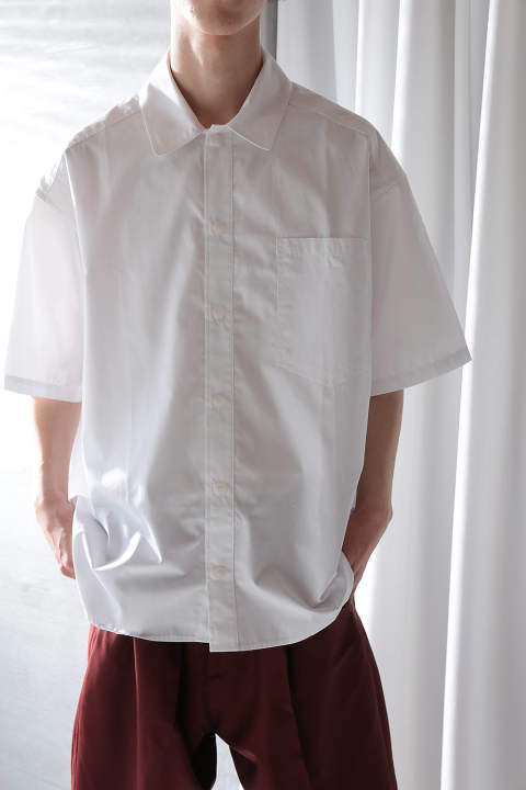 COTTON POPLINE SHIRTS(WHITE)