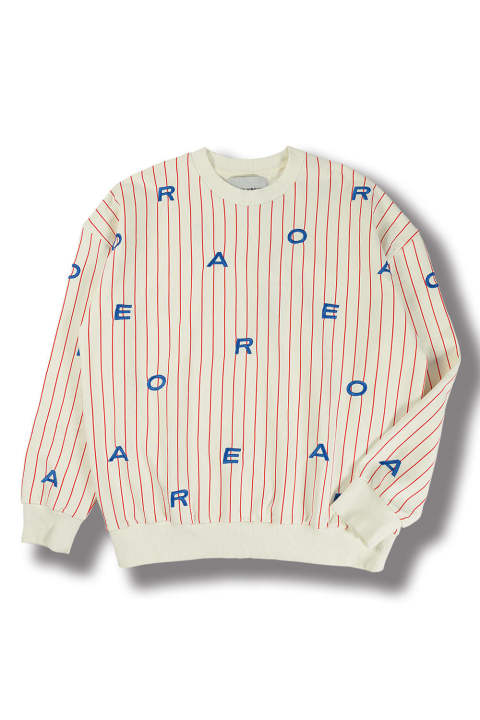 LETTER SWEAT(WHITE BLUE LETTERS)