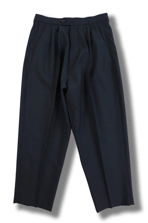 ORO WOOL MOHAIR PANTS(NAVY)
