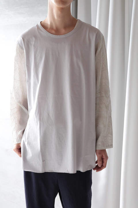 L/S CUTSEW(LIGHT GREY+DREAM CATCHER/EH38TS-03A)