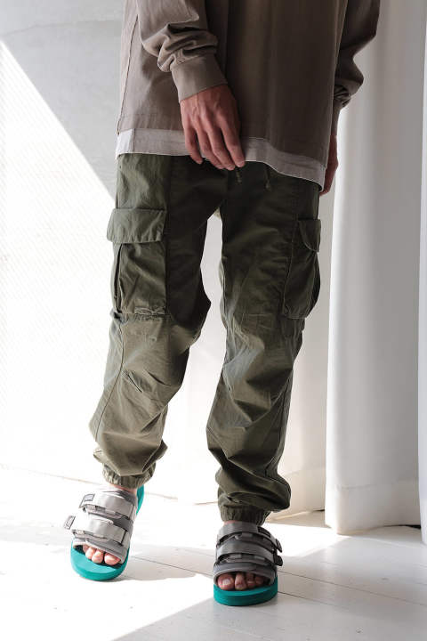 MILITARY CARGO PANTS(OLIVE)