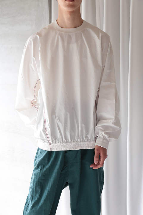 【ラスト1点】M WOVEN LUX TRACK SWEATER(CORE WHITE)