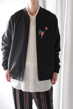 【ラスト1点】EMB. BALLOON BLOUSON(BLACK)