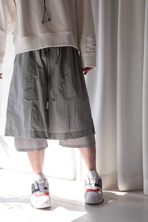 【ラスト1点】LAYERED PANTS(LIGHT GRAY)