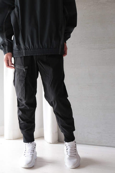 M NYLON TWILL CARGO PANT(BLACK)