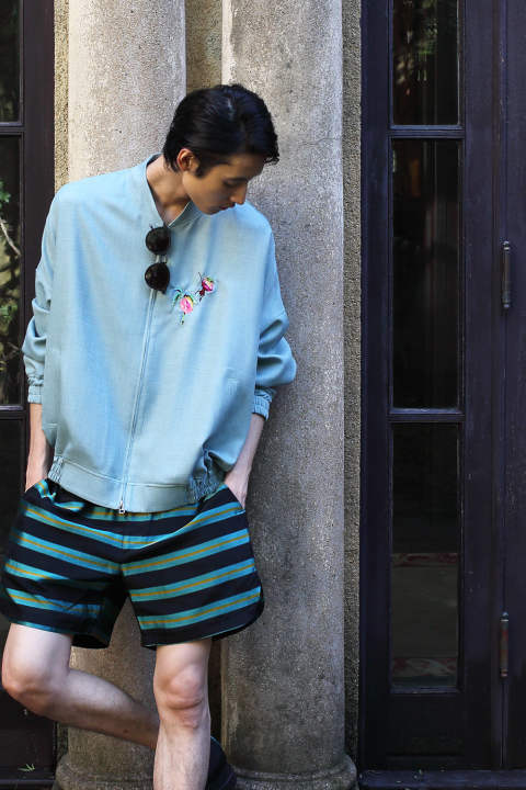 EMB. BALLOON BLOUSON(MINT)