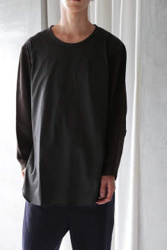 L/S CUTSEW(BROWN+REALITY/EH38TS-03D)