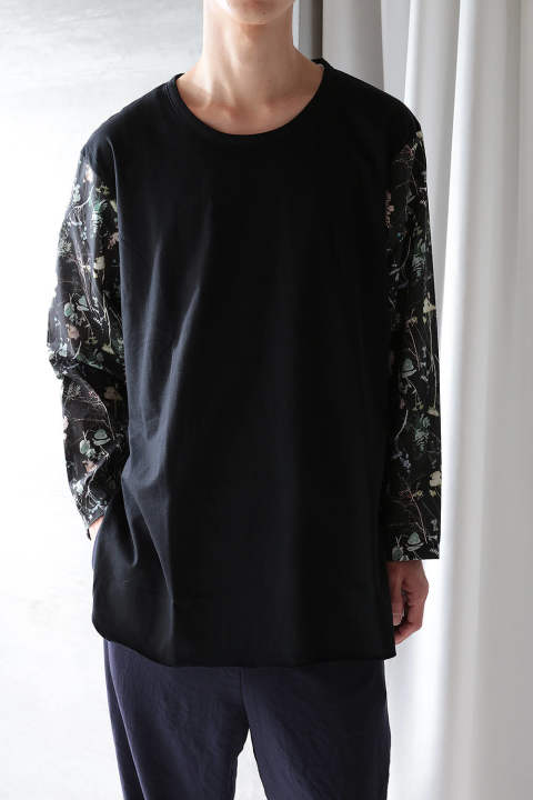 L/S CUTSEW(BLACK+FLOWER DREAM/EH38TS-03C)
