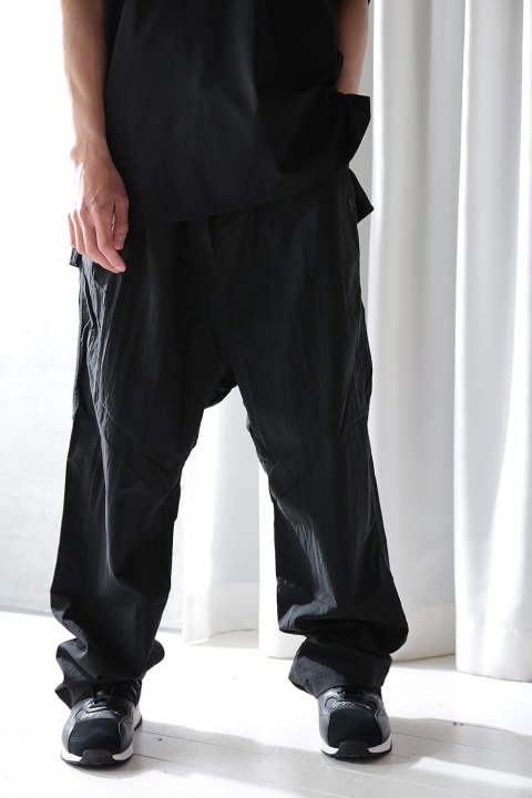 M NYLON TWILL WIDE PANT(BLACK)