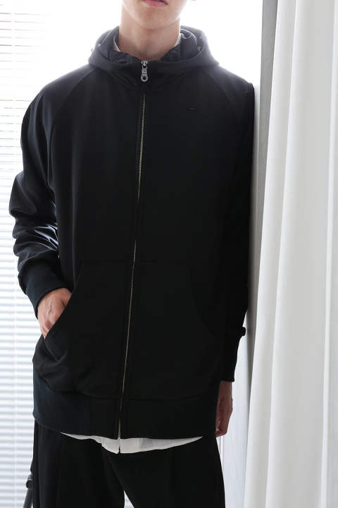 ZIP UP SWEAT(BLACK)