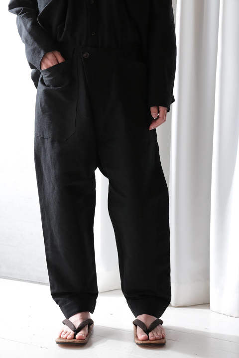 TROUSERS#50(BLACK BAMBOO)