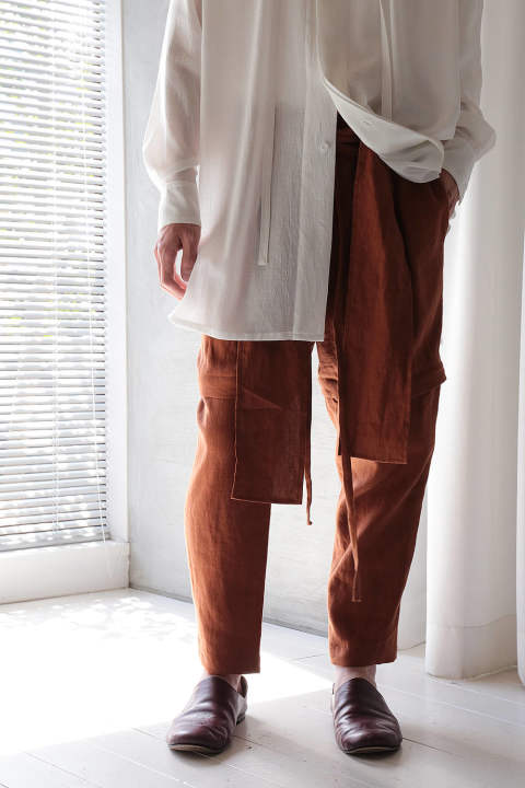 【ラスト1点】2-WAY PANTS(ORANGE)