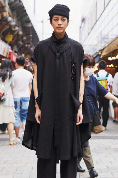 PONCHO COAT(BLACK)