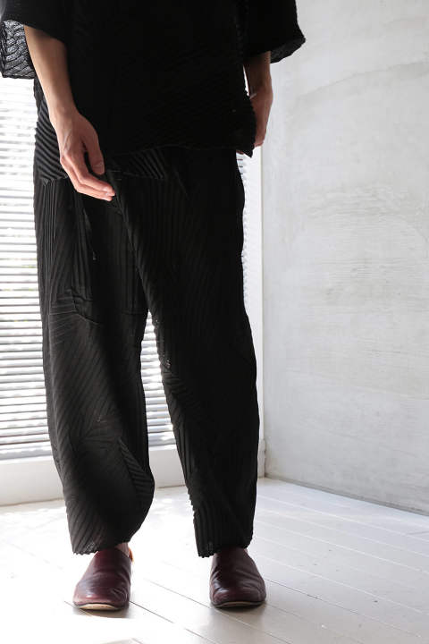WRAP PANTS(BLACK)
