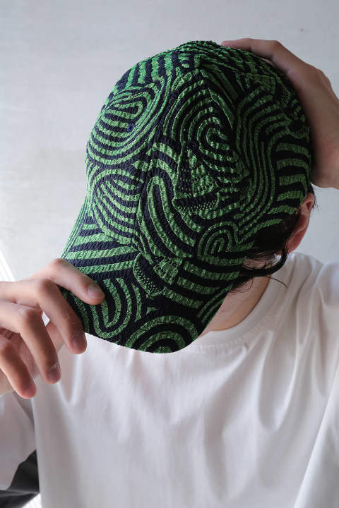 STORMY SEA CAP(GREEN NAVY STORM)