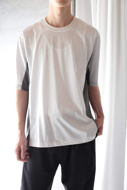 【ラスト1点】COLOR PANEL CUTSEW(WHITE/GRAY/LIGHT GRAY)